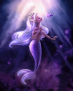 Drawing For Beginners Fantasy mermaid wall art - Mermaid Wall Art, Mermaid Fairy, Mermaid Drawings, Mermaid Tale, Mermaid Paintings, Manga Mermaid, Mermaid Cartoon, Fantasy Mermaids, Unicorns And Mermaids