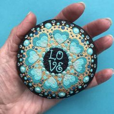 Love Painted Rock For Valentine Decorations Ideas 43