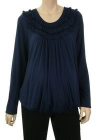 Lilo Maternity Long Sleeve Bubble Top Navy (L) Lilo Maternity. $48.00