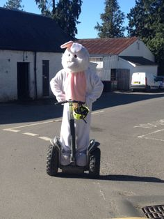 Caught red handed! Keep your eyes peeled for this bouncy bunny over the weekend for your chance to win a giant Easter egg.