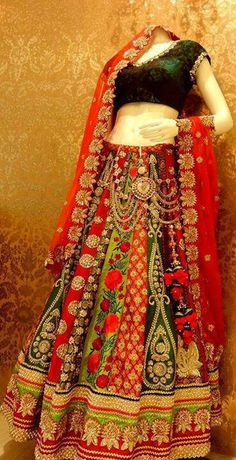 Ethnic lengha.. perfect for a garba function