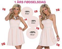 1 ÅRS FØDSELSDAG -20% PÅ ALT  Køb festtøj og modetøj online her. http://bellanordic.dk/