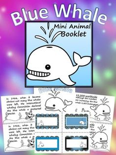 "Mini-coloring book- 23 pagesAll graphics are in an outline format so that it's ready to be colored like a mini-coloring book.This coloring booklet gives all the general/basic information about Blue Whale, including:- basic facts- 11 pages- illustrations- 16 different  labels- writing papers- 2 pagesThis book includes the same text on both the top and bottom of each sheet of paper to make copying, sorting and cutting easy to create a class set of little books.Click the ""Download Preview""…"