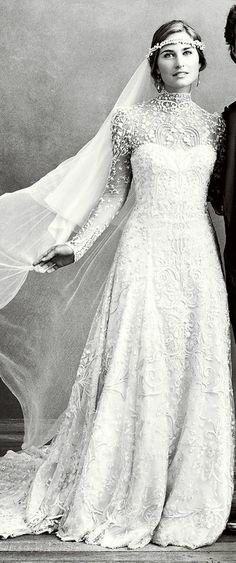 LaurenBush married DavidLauren in a gown designed by her new father-in-law, RalphLauren.
