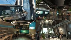 Environment Concept, Future City, Sci Fi, Content, Entertaining, Futurism, Retro, Modern, 3d
