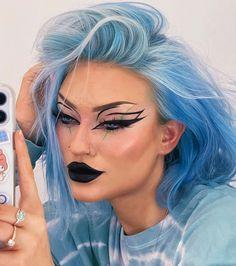 Dope Makeup, Edgy Makeup, Makeup Eye Looks, Gothic Makeup, Grunge Makeup, Eye Makeup Art, Pretty Makeup, Skin Makeup, Alternative Makeup