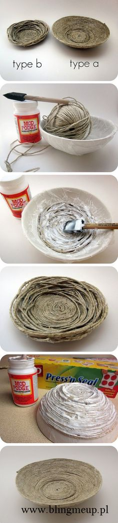 Rustic charm in your house – bowl made of strings