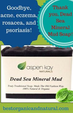 Dead Sea Mineral Mud Soap Bar by Aspen Kay Naturals is made in Israel and infused with organic, healthy oils such as shea butter, extra virgin coconut oil, and sunflower oil. Naturally scented with lemongrass, peppermint, and eucalyptus, it helps with acne, eczema, rosacea, and psoriasis. This vegan soap also reduces wrinkles and tightens pores. As of this writing, it is rated is rated 4.7 out of 5 stars on Amazon. Check it out here…