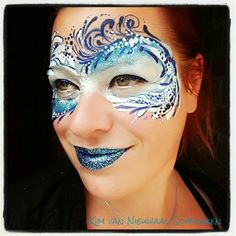 Inspired by Kristin Olsson water waves facepaint mask