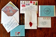 Great travel themed wedding invitations