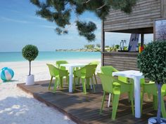 Cool chairs and Beach Bar tables