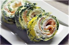 salmon spinach roll!