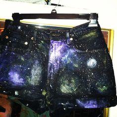 My DIY galaxy shorts
