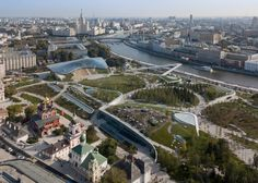 Client: City of Moscow, Chief Architect Sergei Kuznetsov  Site: 10.2 hectares/ 35 acres  Design Consortium  - Consortium Lead/Concept Designer: Diller Scofidio + Renfro (USA)  - Landscape design and master plan collaboration: Hargreaves Associates (USA)  - Local partner, Urban Designer: Citymakers (Russia/Denmark)  - Climate Engineering and Energy Consultant: Transsolar (Germany)  - Engineering Consultant: Buro Happold (United Kingdom)  - Park Management: Central Park Conservancy (USA)…