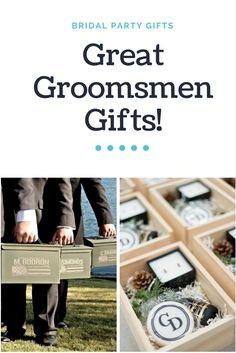 Great Groomsmen Gifts For The Men of Your Wedding Day!