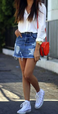 Denim Skirts are Cool Again