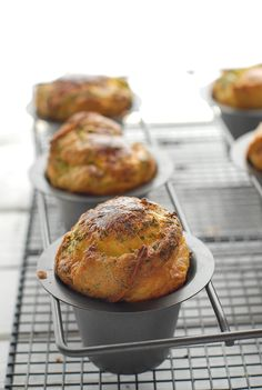 Gluten-Free Spring Lemon-Herb Popovers. Light as a feather and unbearably delicious.