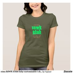 oima RAWK STAH baby customizable t shirt T Shirts For Women 78b436d7c