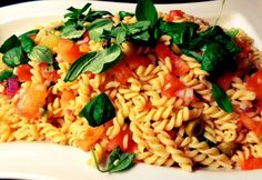 Pasta with Raw Tomato Sauce - Real Recipes from Mums