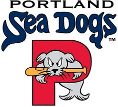 Portland Sea Dogs Primary Logo - A seal jumping through a P underneath the team name - minor league farm team for the Boston Red Sox. Sea Dogs play at Hadlock Field in Portland, Maine Minor League Baseball, Baseball Teams, Milb Teams, Baseball Tickets, Winston Cigarettes, Sports Team Logos, Sports Teams, Dog Games, Dog Logo