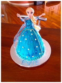 Elsa cake for my daughters 5th birthday.