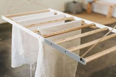 Hanging Laundry Drying Rack – Sheila Maid – Laundry Hanging Rack – Clothing Airer – Wall / Ceiling M Laundry Hanging Rack, Hanging Clothes Drying Rack, Drying Rack Laundry, Hanging Racks, Clothes Hanger, Diy Crafts On A Budget, Wooden Pegboard, Moble Homes, Sheila