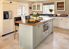 kitchen island with integrated cooker
