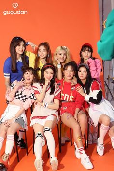 Gugudan Kpop girl group Kpop Girl Groups, Korean Girl Groups, Kpop Girls, 2ne1, Mamamoo, K Pop, Simple Outfits, Casual Outfits, Girl Hair Colors
