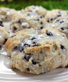 Quick Blueberry Biscuits. Bisquick and buttermilk - no cutting in butter