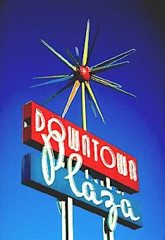 Downtown Plaza sign, Gallup, New Mexico