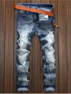 Cheap jean fashion homme, Buy Quality jeans homme directly from China jean homme fashion Suppliers: Fashion Men Slim Stretch Patches Jeans Brand Straight Fit Ripped Jeans Italian Designer Cotton Distressed Denim Jeans Homme Denim Jeans, Biker Jeans, Ripped Jeans, Jeans Pants, Jeans Fit, Man Jeans, Raw Denim, Harem Pants, Bermudas Shorts