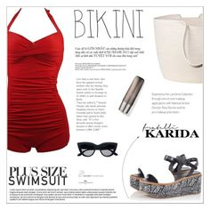 """Fratelli Karida"" by vidrica ❤ liked on Polyvore featuring Robert Clergerie, Doug Johnston, RéVive, polyvoreeditorial, summersandals, stylishcurves and plussizeswimsuit"