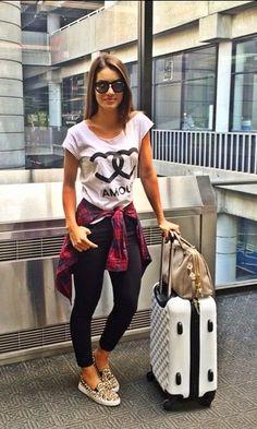 Look de Aeroporto: T-Shirt