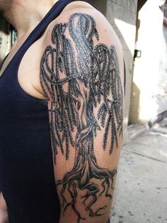 Willow Tree Tattoo Designs | Knowles Art Tree Weeping ...Weeping Willow Black And White Tattoo