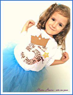 Camiseta personalizada para uma Princesa!  www.artemariaamora.com.br