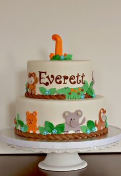The Couture Cakery - jungle theme birthday cake