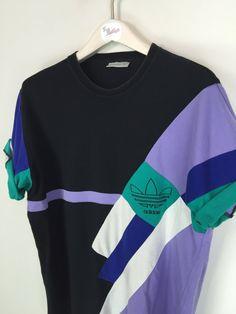 Adidas T-shirt Black/Purple Large