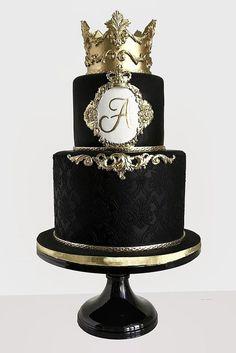 30 Black And White Wedding Cakes Ideas ❤ See more: http://www.weddingforward.com/black-and-white-wedding-cakes/ #wedding