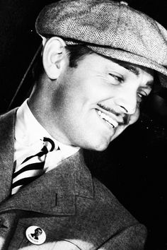 "Clark Gable in ""San Francisco"", 1936."