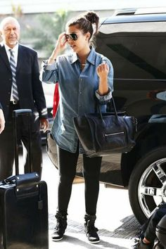 Getting ready for a family-filled travel day, Kourtney Kardashian was seen arriving at LAX airport in Los Angeles, CA, on Sunday (September 9) with her son Mason and daughter Penelope in tow.
