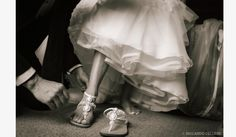 White Bridal Leather Sandals for you big day!