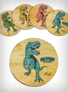 $15.00 Tea-Rex Coasters Set of 4