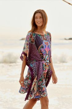 Peasant Tops, Tunic Tops, Johnny Was, Boho Tops, Boho Chic, Fitness Models, Cover Up, Swimsuits, Resort Style