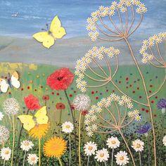 Open Fields, Wild Flowers and Butterflies by Jo Grundy