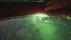 Aurora borealis from the space station