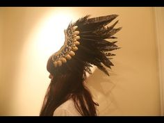Diy Headdress with Feather , Výroba čelenky s peřím - YouTube  Valkyrie headpiece, angel , Norse , cosplay , costume, opera, glue stick DIY, feathers, dark, black feathers, drag, theater