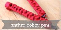 Anthropologie Ribbon Bobby Pins