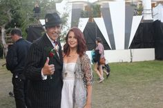 'Viv the Spiv' at #Vintage #Festival with Kelly O'Connor from Oxfam Fashion