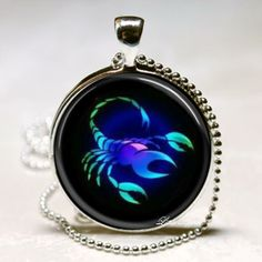 Libra Scorpio Sagittarius September October November December Zodiac Signs Glass Tile Pendants Keychain