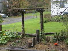 re use & recycle.... poles, supports & reclaimed timbers...